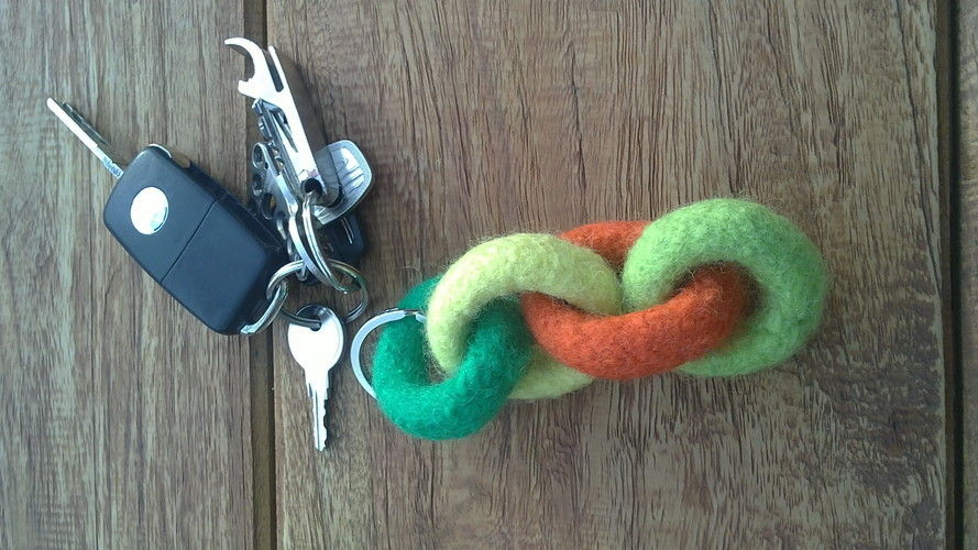 Makerist - Schlüsselanhänger gestrickt gefilzt - Strickprojekte - 2