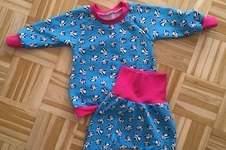 Makerist - Baby Set aus Jersey in Größe 80 - 1