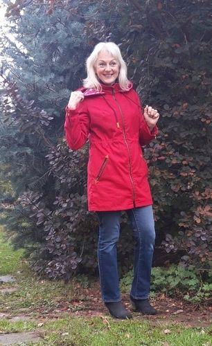 Makerist - Parka Winneke in rot aus Canwax light in Gr.38 mit FBA  - Nähprojekte - 1