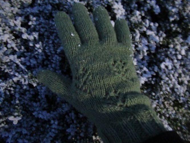 Makerist - Gant vert ajourés - Créations de tricot - 2