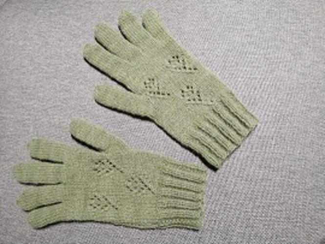 Makerist - Gant vert ajourés - Créations de tricot - 3