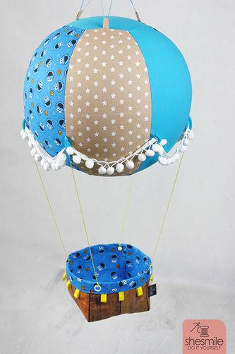 Makerist - Ein Adventskalender Adventsballon mit Krümelmonster in blau-gelb für mein Patenkind - Nähprojekte - 1