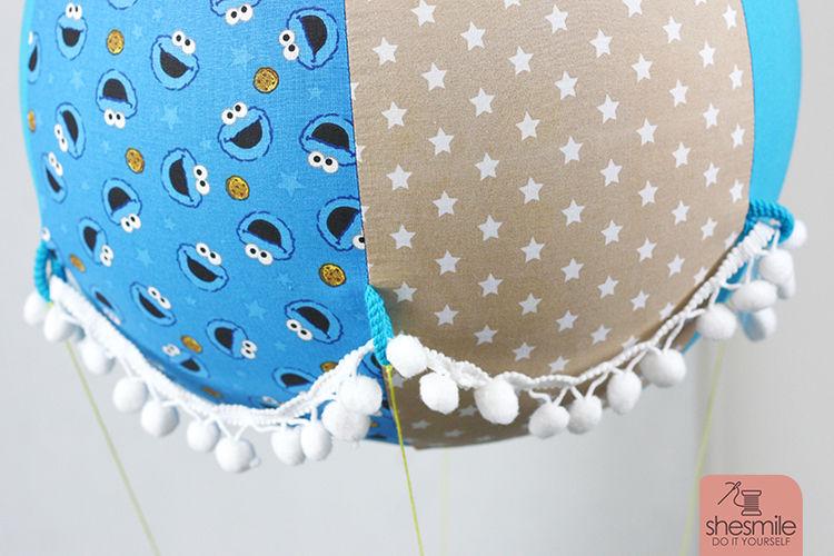Makerist - Ein Adventskalender Adventsballon mit Krümelmonster in blau-gelb für mein Patenkind - Nähprojekte - 3