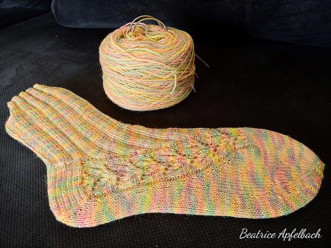Makerist - Socken mit Lace - Strickprojekte - 1