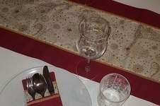Makerist - Tischläufer + Bestecktasche mit Posamentenborte - 1