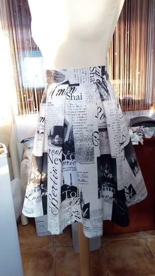 Sukňa , bavlnený materiál so vzorom , pre dámy a slečny