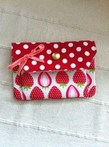 Makerist - Erdbeersüßes Portemonnaie - Nähprojekte - 1