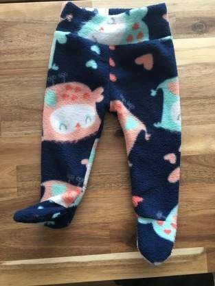Baby fleece footed pants