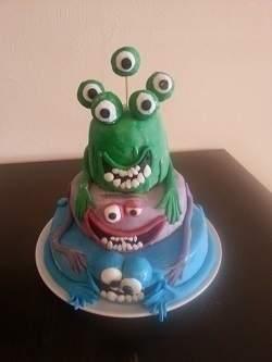 Makerist - Monster Torte für meine Nichte - 1