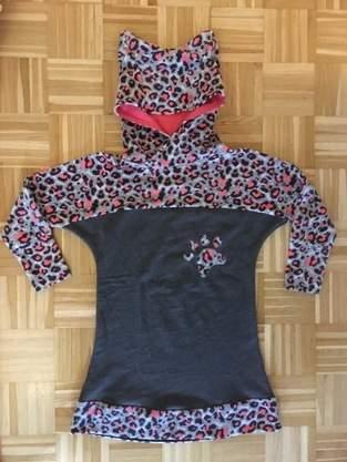 Fledermaus  Shirt als Kleid mit Katzenkapuze