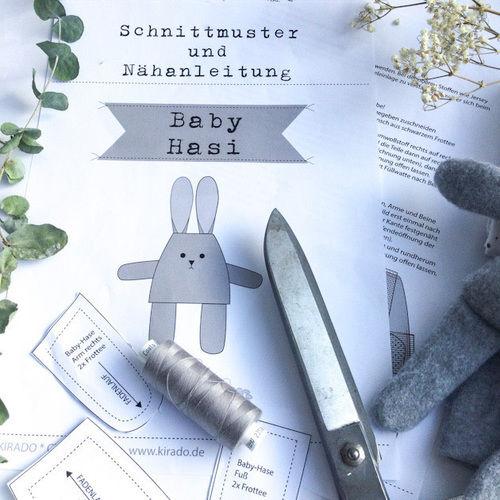 """Makerist - Kostenloses Schnittmuster  """"Baby Hasi""""  - DIY für Kinder - 3"""