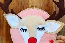 Makerist - Happy felt Reindeer Door Sign  - 1