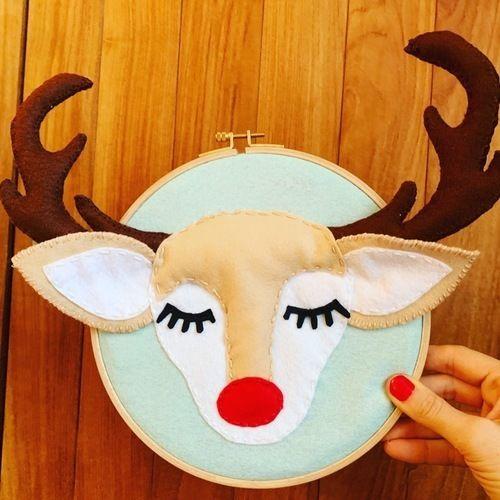 Makerist - Happy felt Reindeer Door Sign  - DIY Showcase - 2
