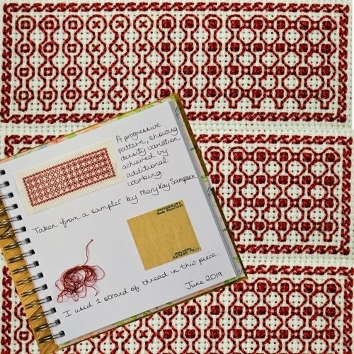 Makerist - Stitching Projects - Blackwork Journal - June - Sewing Showcase - 1
