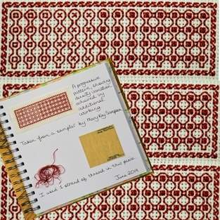 Makerist - Stitching Projects - Blackwork Journal - June - 1