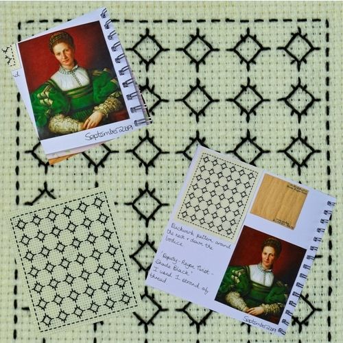 Makerist - Stitching Projects - Blackwork Journal - September 2019 - Sewing Showcase - 1