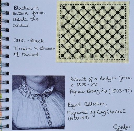 Makerist - Stitching Projects - Blackwork Journal - October 2019 - Sewing Showcase - 2