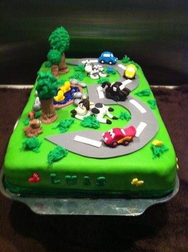 Makerist - Cars Torte zum 3. Geburtstag  - Torten, Cake Pops und Cupcakes - 1
