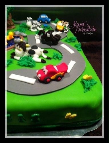 Makerist - Cars Torte zum 3. Geburtstag  - Torten, Cake Pops und Cupcakes - 2