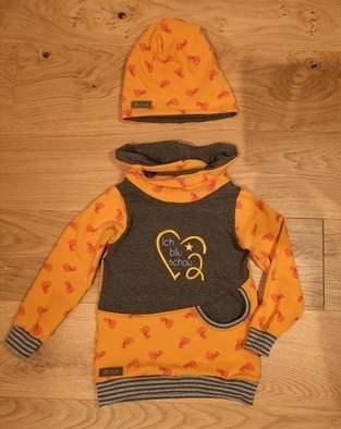 Makerist - Lybstes Hoodie aus Jersey mit Stickerei Größe 104 - 1