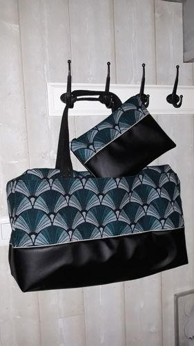 Makerist - Mon 1er sac georges ! En simili cuir noir et jacquard - Créations de couture - 1