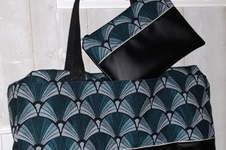 Makerist - Mon 1er sac georges ! En simili cuir noir et jacquard - 1