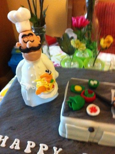 Makerist - Geburtstagstorte für meinen Sohn, der Koch ist.  - Torten, Cake Pops und Cupcakes - 1