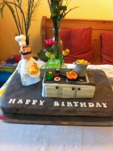 Makerist - Geburtstagstorte für meinen Sohn, der Koch ist.  - Torten, Cake Pops und Cupcakes - 2