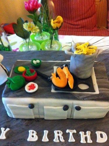 Makerist - Geburtstagstorte für meinen Sohn, der Koch ist.  - Torten, Cake Pops und Cupcakes - 3