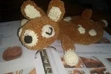 Makerist - Bambi will kuscheln. Kuschelweiche Kuschelwolle wie in der Anleitung von BOmondo beschrieben. Kuscheln darf die Tochter meiner Nichte damit. Sie ist jetzt 3 Monate alt und ihr werde ich es schenken. - 1