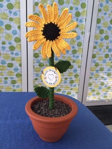 Makerist - Gehäkelte Sonnenblume - Häkelprojekte - 1