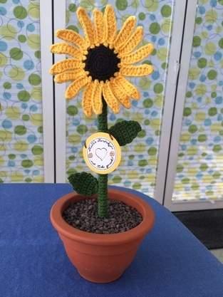 Makerist - Gehäkelte Sonnenblume - 1