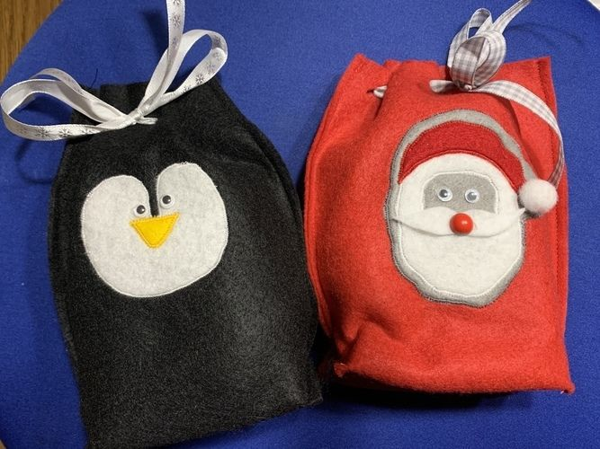 Makerist - Weihnachtssäckchen für kleine Geschenke - Filzprojekte - 1