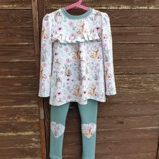 Makerist - Girly-Shirt  und Leggins  - 1
