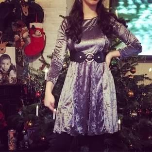 """Weihnachtskleid """"London"""" aus Samt"""