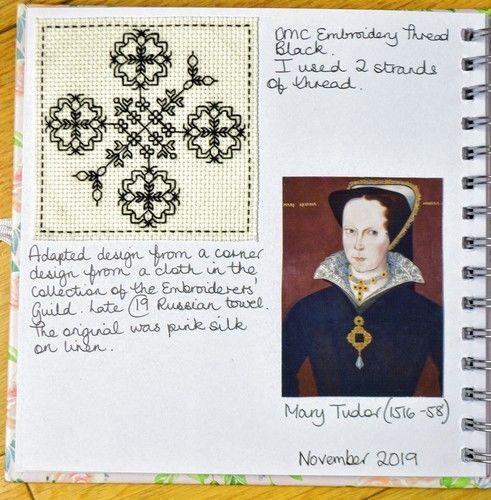 Makerist - Stitching Project - Blackwork Journal - November 2019 - Sewing Showcase - 2