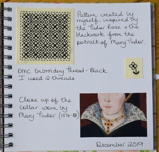 Makerist - Stitching Projects - Blackwork Journal - December 2019 - Sewing Showcase - 2