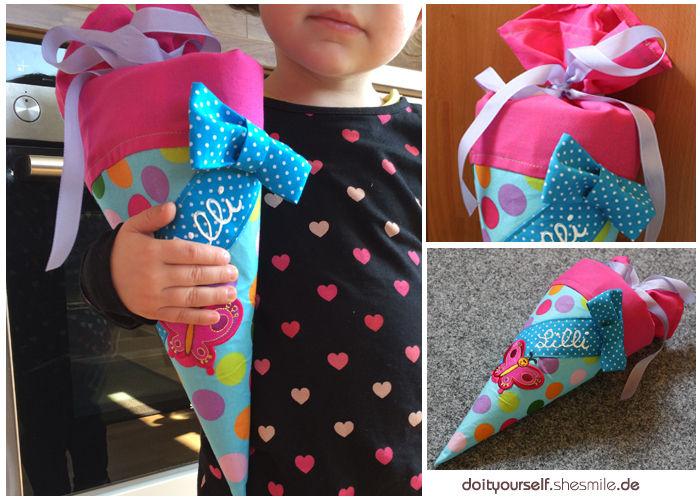 Makerist - Kleine Schultüte zum Kindergarten-Start - Nähprojekte - 1