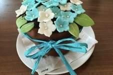 Makerist - Blumentopf-Torte gefüllt mit Schokobrownie - 1