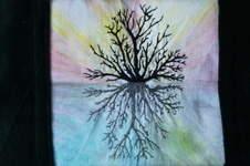 Makerist - Freihandstickerei mit Stoffmalerei auf Samtkissen - 1