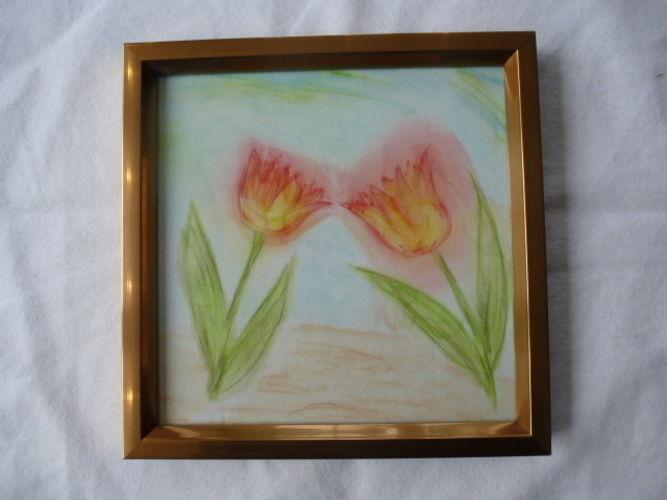 Makerist - Tulpen in Aquarelltechnik auf Seide - Textilgestaltung - 1