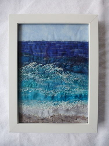 Makerist - Wellen Apllikation mit Freihandstickerei Baumwolle - Textilgestaltung - 1