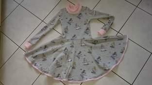 Ein schnell genähtes Drehkleid für meine Enkelin