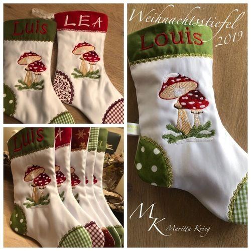 Makerist - Bestickte Weihnachtsstiefel - Textilgestaltung - 2