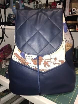 Makerist - Rucksack aus Canvas mit Lederimitat - 1