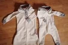 Makerist - Partner look Rompee Overall und Kleid aus Sweatshirtstoff und Fleece gefütterte Kapuze.  - 1