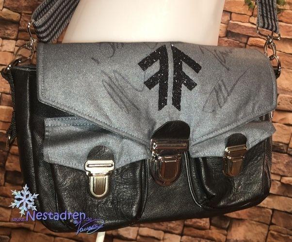 Makerist - Fan-Tasche aus Köper & Leder - Nähprojekte - 1