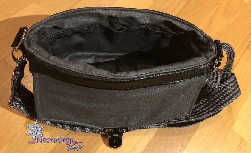Makerist - Fan-Tasche aus Köper & Leder - Nähprojekte - 3