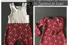 Makerist - Geschwisteroutfit: Strampler und Zipfelkleidchen (Gr. 74 & 116) - 1