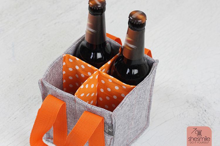 Makerist - Flaschentasche TanteTrage mit 4 Fächern - Nähprojekte - 1